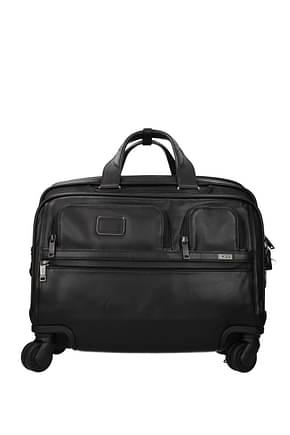 Tumi Wheeled Luggages alpha 3 27l Men Leather Black