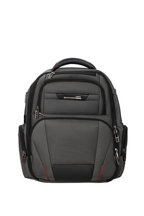 Samsonite Backpack and bumbags pro dlx 5 20l Men Nylon Gray Magnetic Grey