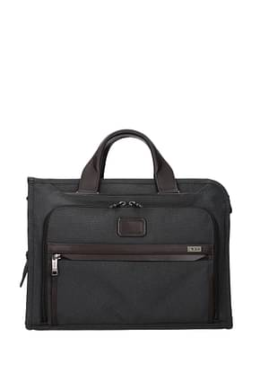 Tumi Work bags deluxe  Men Polyester Gray Anthracite