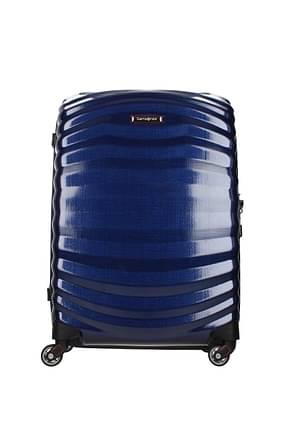 Samsonite Wheeled Luggages lite shock sport 36l Men Polypropylene Blue Red