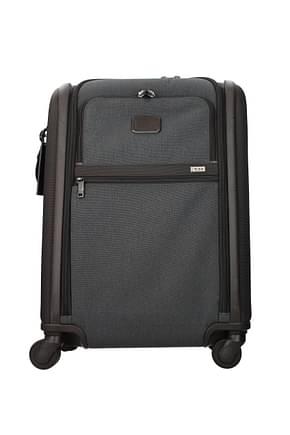 Tumi Wheeled Luggages 42l Men Nylon Gray