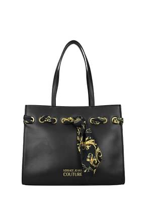Versace Jeans Shoulder bags couture Women Polyurethane Black