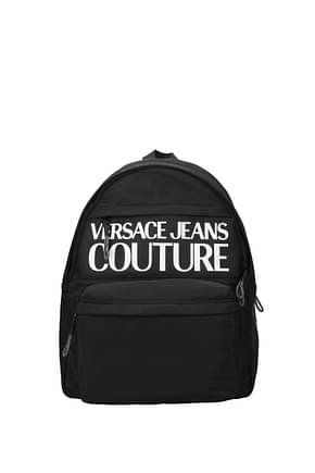 Versace Jeans Backpack and bumbags couture Men Polyurethane Black