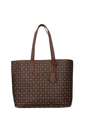 Pollini Shoulder bags Women PVC Brown Fuchsia