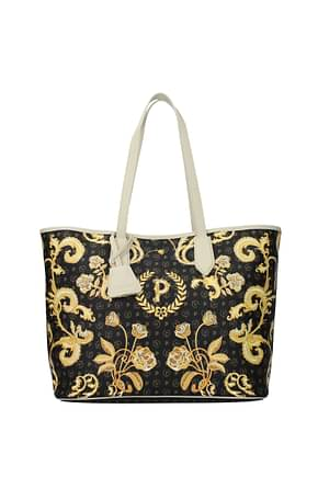 Pollini Shoulder bags Women PVC Black Ivory
