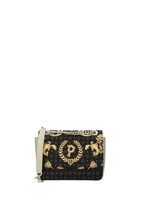 Pollini Crossbody Bag Women PVC Black Beige