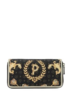 Pollini Wallets Women PVC Black Ivory