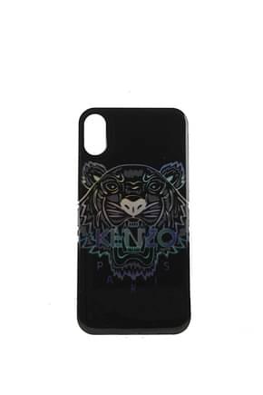 Kenzo Porta iPhone iphone x/xs Uomo Plastica Nero Multicolore