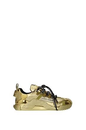 Dolce&Gabbana Sneakers Mujer Tejido Oro