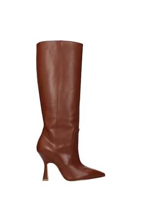 Stuart Weitzman Boots parton Women Leather Brown Cognac