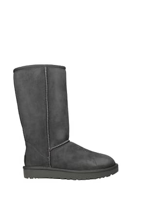 UGG Ankle boots classic tall ll water resistant Women Suede Gray
