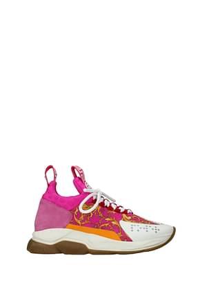 Versace Sneakers Donna Tessuto Fuxia Bianco