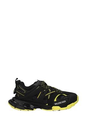 Balenciaga Sneakers track Uomo Tessuto Nero Giallo