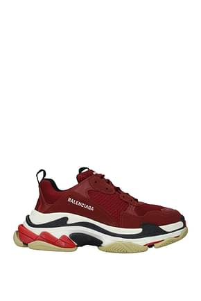 Balenciaga Sneakers triple s Homme Tissu Rouge Bordeaux
