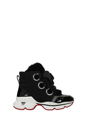 Louboutin Sneakers marellaski Mujer Tejido Negro