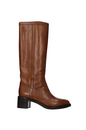 Celine Stiefel Damen Leder Braun Caramel