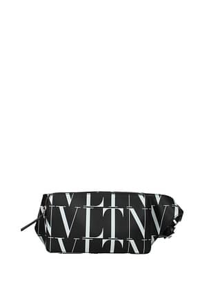 Valentino Garavani Backpack and bumbags vltn Men Leather Black White