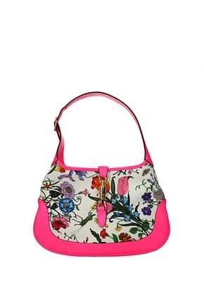 Gucci Shoulder bags Women Fabric  Beige Fluo Pink