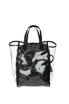 Moncler Shoulder bags Women PVC Transparent Black