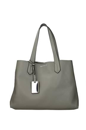 Armani Emporio Shoulder bags Women Leather Gray Mud