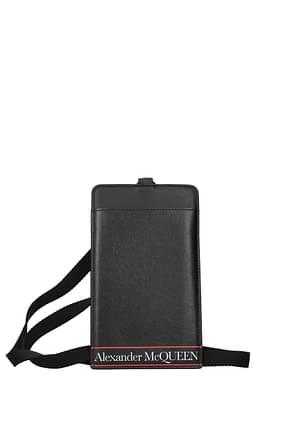 Alexander McQueen Fundas para Smartphone Hombre Piel Negro