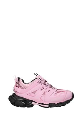 Balenciaga Sneakers track Mujer Tejido Rosa Rosa