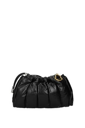 Moncler Crossbody Bag seashell satchel Women Leather Black