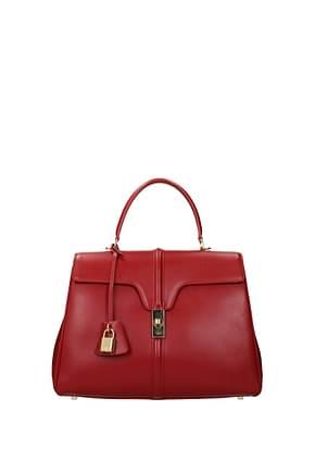 Celine Bolsos de mano Mujer Piel Rojo Rojo
