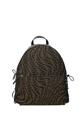 Fendi Backpack and bumbags vertigo Men Fabric  Brown Brown