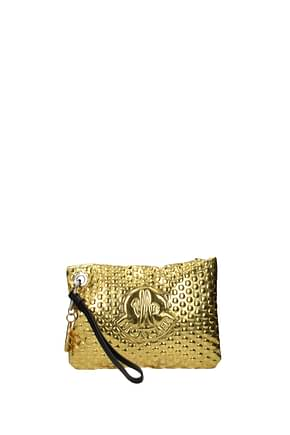 Moncler Clutches Women PVC Gold