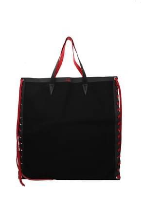 Louboutin Shoulder bags cabalace Women Fabric  Black
