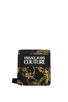 Versace Jeans Borse a Tracolla couture Uomo Tessuto Nero