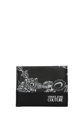 Versace Jeans Portafogli couture Uomo Poliuretano Nero