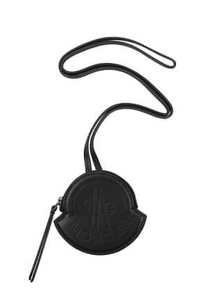 Moncler Coin Purses Men Leather Black