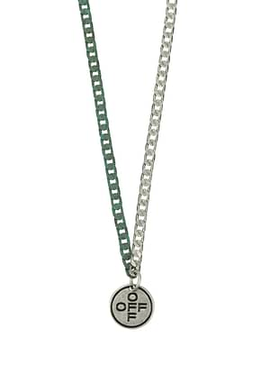 Off-White Necklaces Men Metal Silver Sage