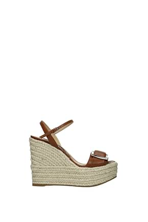 Sergio Rossi Wedges Women Leather Brown