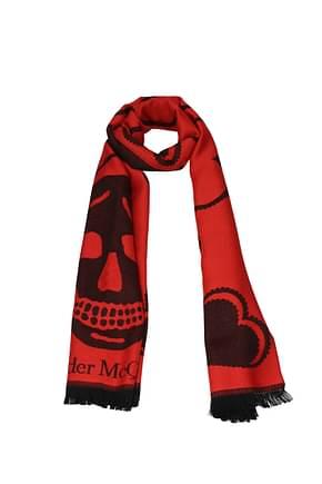 Alexander McQueen Scarves Women Wool Red Red