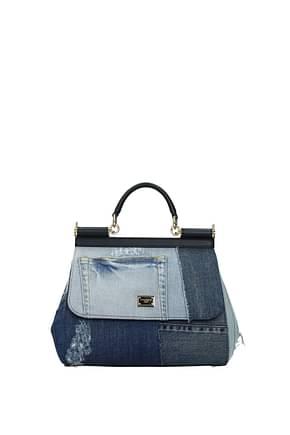 Dolce&Gabbana Handbags sicily medium Women Fabric  Blue Denim