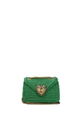 Dolce&Gabbana Borse a Spalla devotion Donna Rafia Verde