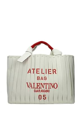 Valentino Garavani Handbags atelier bag 05 plissè edition Women Fabric  Beige Red
