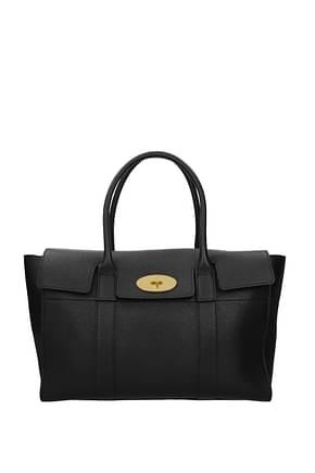 Mulberry Handbags Women Leather Black