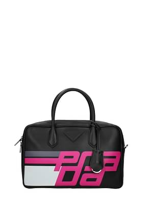 Prada Handbags Women Leather Black