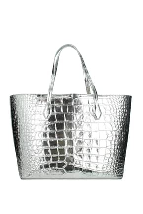 Givenchy Shoulder bags Women Leather Silver