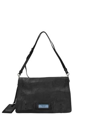 Prada Shoulder bags Women Leather Black
