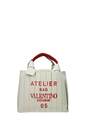 Valentino Garavani Borse a Mano atelier bag 05 plissé edition Donna Tessuto Beige Rosso