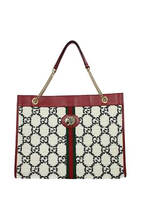 Gucci Shoulder bags Women Fabric  White Red