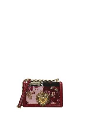 Dolce&Gabbana Sacs bandoulière devotion Femme Tissu Rouge Multicouleur