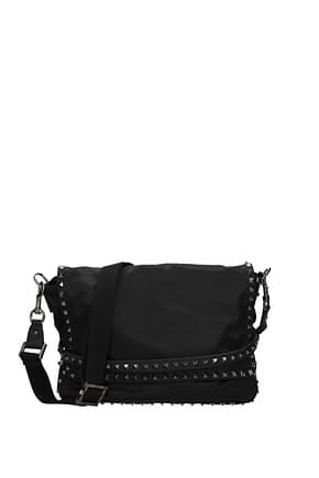 Valentino Garavani Crossbody Bag Men Fabric  Black