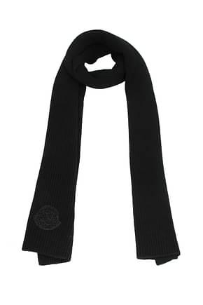 Moncler Scarves tricot Men Virgin Wool Black