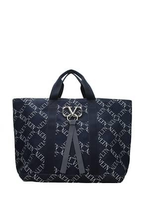 Valentino Garavani Travel Bags Men Fabric  Blue